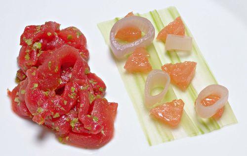 WatermelonRibbonsCeleryShallotGrapefruit