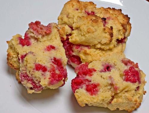 RaspberryCornMuffins