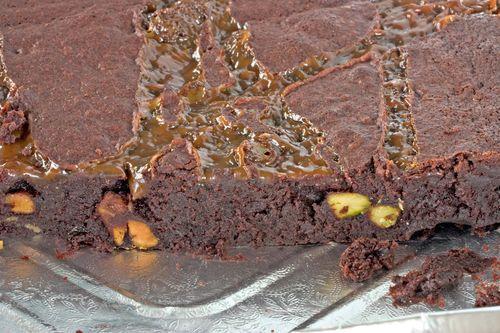 ChocolateCaramelPistachioBrownie