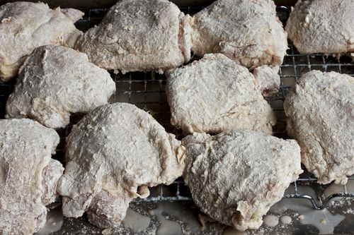 ButtermilkBrined&BreadedSmokedChickenThighs