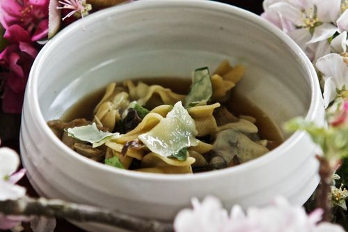 MushroomNoodleSoupCheddarAppleBlossoms