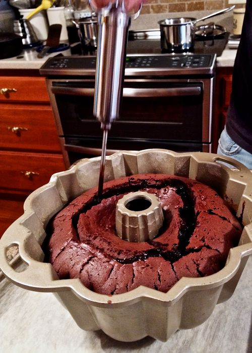 Injecting-Chocolate-Cake